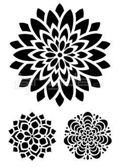 šablona 20x30 cm VELKÁ MANDALA VM-12 Manga Mandala, Dotwork Tattoo Mandala, Mandala Sketch, Mandala Tattoo Design, Mandala Art, Tattoo Designs, Geometric Tattoo Stencil, Mandala Stencils, Tattoo Stencils