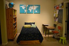 It's Twinsanity: Taking time to be crafty - World Map - DIY Art - Canvas - 3: Watercolour map idea?