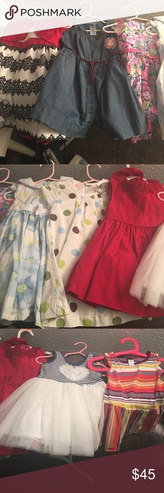 Baby girl dress lot!!! Yes all 8 dresses! All have been worn literally once. The dresses are size 12 months but some say 6-12 months. 3 are from Carters, 1 from Gymboree ,1 from Jason Wu from Target and 3 are from different brands. Carter's Dresses Formal