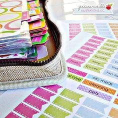 Coupon Binder Oranization Printables, Coupon File Folder Labels, Print Your Own, Labels for Coupon Binder via Etsy