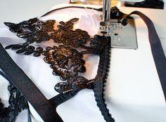 How to make a triangle lace bra, Debrief DIY