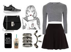 """""""Untitled #18"""" by val2194 ❤ liked on Polyvore featuring Glamorous, NIKE, Chloé, Casetify and Repossi"""