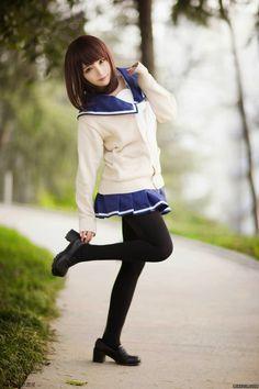 MyAnimeForLife is your go-to source for all anime & manga news & updates. Cute School Uniforms, School Uniform Fashion, School Uniform Girls, Girls Uniforms, Cute Asian Girls, Cute Girls, Beautiful Japanese Girl, Beautiful Ladies, Girls Gallery