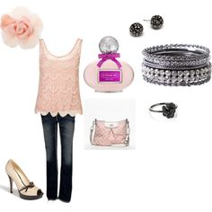 Pretty in pink, created by shalynn-smith on Polyvore