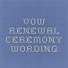 Renewal Of Vows Ceremonies