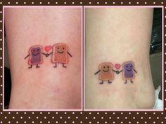 Peanut Butter & Jelly tattoos