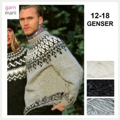 12-18 Knitting Patterns, 18th, Men Sweater, Pullover, Wool, Sweaters, Fashion, Threading, Breien