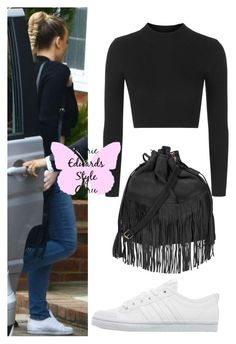 """Perrie style steal"" by angela379 ❤ liked on Polyvore featuring Topshop, adidas Originals and exacts"