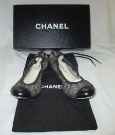 100% Authentic CHANEL Ballerina Shoes Flats Black Size 39 BRAND NEW WITH BOX #CHANEL #FlatsBallerinaShoes