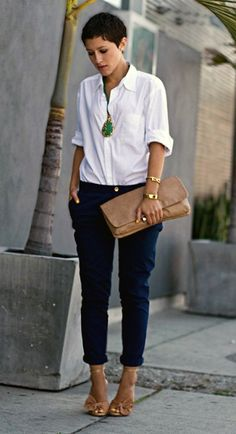 White shirt (*o*)