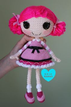 PATTERN ($5.99) Lalaloopsy Crochet Amigurumi Doll by epickawaii on Etsy