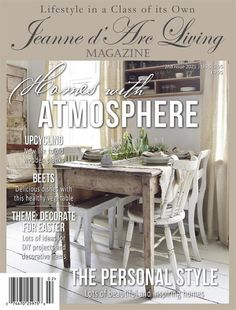 Jeanne d'Arc Living Magazine February 2021 2nd Issue | Etsy Vintage Country, Country Decor, Country Style, Dining Bench, Dining Chairs, European Garden, Flea Market Decorating, Living Magazine, Healthy Vegetables