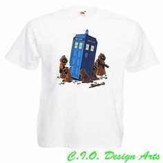Star Wars & Dr Who Tardis Funny Parody Mens Awakens Jedi T-Shirt