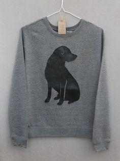 Leather Labrador Jumper Women's Grey Heather door BaggyFitted, £33.00