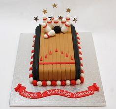 The perfect addition to a bowling party - the Ten Pin Bowling Cake - from £60.