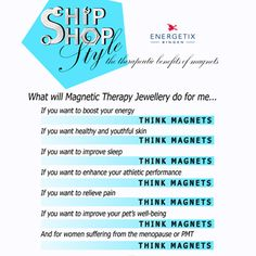 Ship Shop Style Magnetic Therapy Jewellery