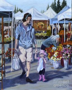 Father Art Print featuring the painting Pink Boots On A Sunny Day by Mary Beth Harrison Salon Art, Painting Competition, Web Gallery, Charles River, Pink Boots, Art Competitions, Artwork Images, Online Painting, Art Market
