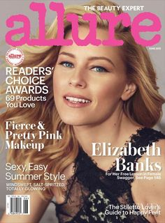 Cover of Allure with Elizabeth Banks, June 2015 (ID:34016)| Magazines | The FMD #lovefmd