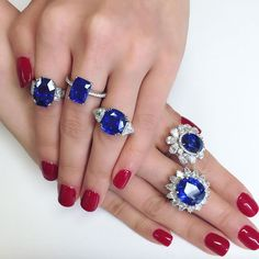 Gorgeous Sapphire Rings at Christie's auction house. Which one is your favorite?