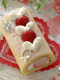 Pretty roll cake