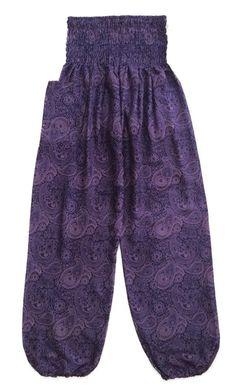 Purple Baggy Pants Thai Graphic Design