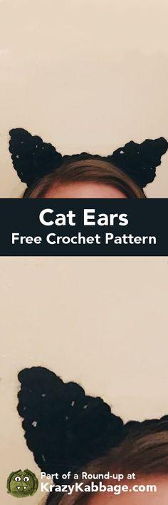 Cat Crazy Free Crochet Patterns – Krazykabbage #crochet #freepattern #cat #craft #homemade #handmade #pets #kitty