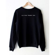 Find More Hoodies & Sweatshirts Information about I'M FINE THANK YOU Black White Fashion Women Suit Casual Hoodies Shirts Hoody Sweatshirts,High Quality sweatshirts womens,China shirt womens Suppliers, Cheap shirt reviews from Attitude Apparel on Aliexpress.com