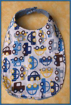 Bavoir en tissu coton motif voitures tissu éponge : Mode Bébé par orkan28