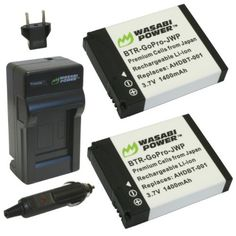 Wasabi Power Battery #PSEWishlistand Charger Kit for GoPro $20