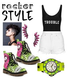 """Untitled #68"" by melissa-roberts-i ❤ liked on Polyvore featuring Iron Fist, ADRIANA DEGREAS, Topshop, KYBOE!, Noir Jewelry, rockerchic and rockerstyle"