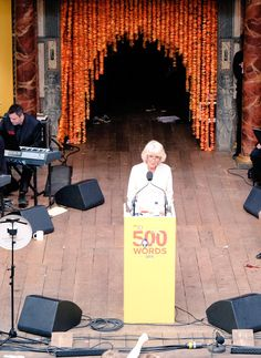 """Clarence House on Twitter: """"HRH The Duchess of Cornwall is speaking at the final of #500Words here in the incredible @The_Globe."""