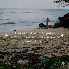Cuando vayas a la playa, ¡Déjala aún más limpia que la encontraste!