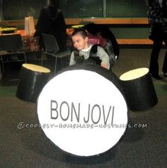 "Coolest Bon Jovi Drummer ""Tico"" in a Wheelchair Costume... This website is the Pinterest of costumes"
