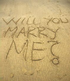 Proposal in Sand