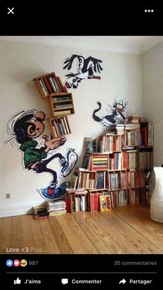 """Here is an adorable """"bookshelf"""" idea for a tween's room or even the library corner in a school classroom. #library #bookshelf"""