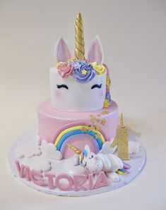 Cake pops for mom - HQ Recipes Unicorn Themed Birthday, Unicorn Party, Unicorn Cakes, Unicorn Cake Design, Pony Cake, Easy Cake Decorating, Decorating Ideas, First Birthday Cakes, Savoury Cake