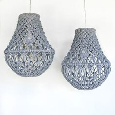 New Macrame Pendant Lights (see also previous post)   Thanks everyone for all your lovely comments!  Your words really mean a lot. For all custom enquiries please email at eden_eve@outlook.com xx