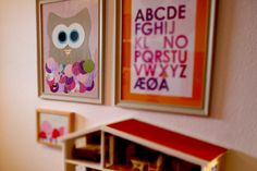 Make yor own owl, with big eyes and put it in a frame.