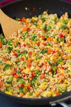 Very Veggie Fred Rice ~ Made using brown instead of white rice.  You can also throw in some cut up cooked chicken to make it even more filling.  * http://www.cookingclassy.com/very-veggie-fried-rice/?utm_content=buffer23953&utm_medium=social&utm_source=pinterest.com&utm_campaign=buffer
