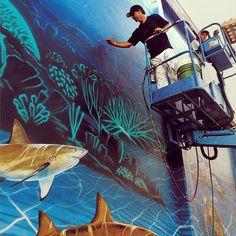 "Photo by wyland • Instagram  #WylandWalls #52 ""Florida's Living Reef""   Dedicated September 27, 1993"