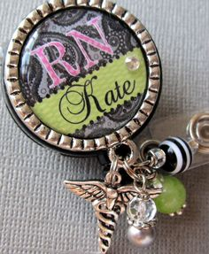 "Love this!! Just add an ""i"" in there and it would be perfect! RN name badge reel."