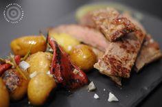 #entrecot con patatitas de la huerta y pimientos #venalgure #delicious #food #foodporn