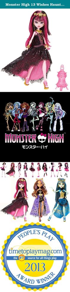 Monster High 13 Wishes Haunt the Casbah Draculaura Doll. Decked Out in Casbah Couture It's time for a dance party — Monster High style. The ghouls of Monster High are all dolled up in genie-inspired fashions, as featured in their frightfully fun movie Monster High 13 Wishes. Draculaura doll looks hauntingly gore-geous in an over-the-top outfit adorned with golden accessories. She comes with a brush, doll stand, and lantern accessory to help create a boo-tiful night to remember....