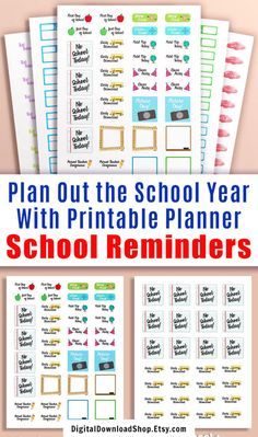 Whether you're new to planning, or just new to including your school schedule in your planner, this student stickers starter kit has everything you need to start planning out the school year! | #plannerStickers #printablePlannerStickers #printables #planner #DigitalDownloadShop Journal Stickers, Printable Planner Stickers, Printables, Study Planner, School Schedule, School Today, Erin Condren Life Planner, Starter Kit, Happy Planner