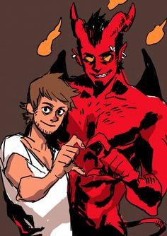 Fan art appreciation post! Before it was known as 'Tobias and Guy', it started as 'bara demon and guy'. And from the earlier prototype strips, I've already received numerous fan artworks. All are...