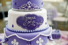 Ivan M's Birthday / Sofia the First - Once upon a Princess at Catch My Party Princess Sofia Party, Princess Sofia The First, Sofia The First Birthday Cake, 3rd Birthday, Birthday Ideas, Puppy Birthday Parties, Party Cakes, First Birthdays, Party Ideas