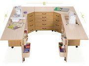 Sylvia Design U2810 Combination Sewing Cabinet