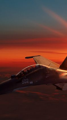 Sukhoi Su-30, fighter aircraft, sunset, Russian Army (vertical) #jetfighter