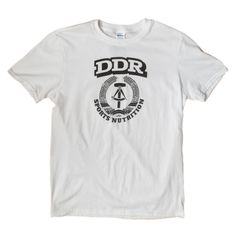 DDR Sports Nutrition T-shirt. They had some strong sports supplements back in the day. Sports Nutrition, Strong, Gym, School, Mens Tops, T Shirt, How To Wear, Fashion, Supreme T Shirt