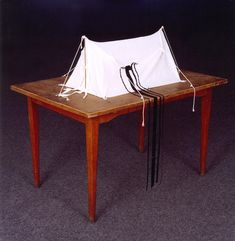 Belu Simion Fainaru - Tallit Tent, 1995, mixed media,Art Haifa Museum, Haifa, Israel